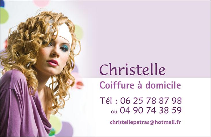 Christelle Coiffure Carte De Visite